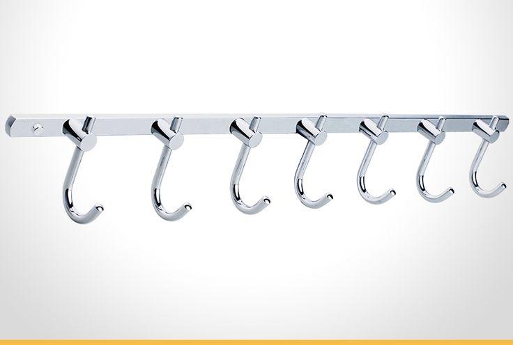 Cadenza chrome 7 hook towel bar