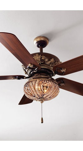 "Country - Cottage 60"" Casa Vieja Brighton Way Golden Bronze Ceiling Fan - traditional - ceiling fans - Lamps Plus"