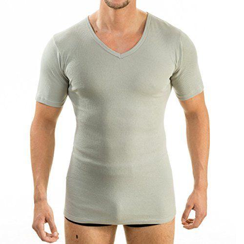 4880 Herren kurzarm Shirt mit V-Ausschnitt exclusive by HERMKO, Business Unterhemd aus 100% Baumwolle in 6 Farben, Größe:D 10 = EU 4XL;Farbe:grau - http://on-line-kaufen.de/hermko/10-xxxxl-4880-herren-kurzarm-shirt-mit-v-exclusive