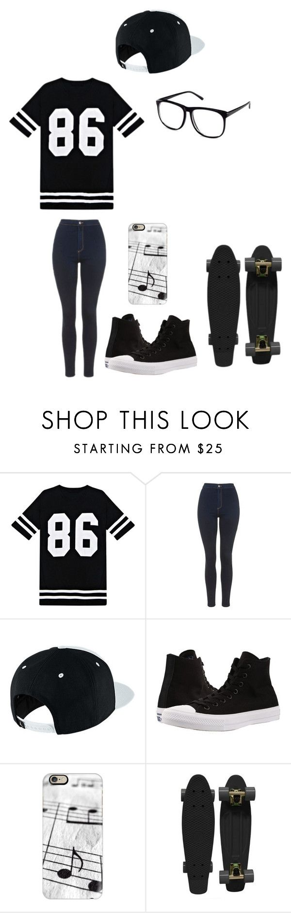 """Untitled #132"" by darksoul7 on Polyvore featuring Topshop, NIKE, Converse, Casetify, Retrò and H&M"