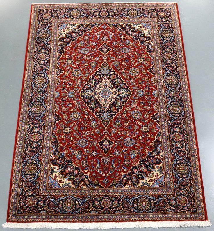 Kork Wool Kashan (Ref 11) 220x145cm - PersianRugs.com.au