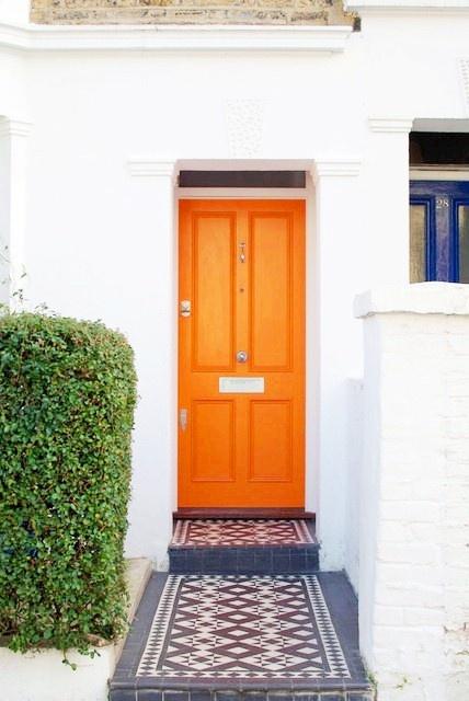 Hermes orange door