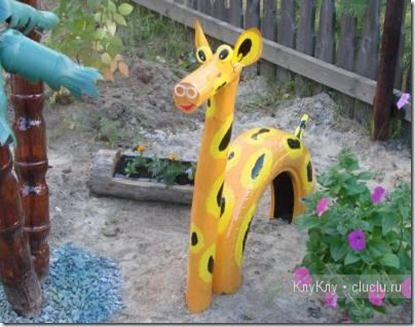 This would be great to do for an obstacle course.  Place these animals in a column in a bed of sand so that as the kids get oldre they can crawl under the animals as part of the course.