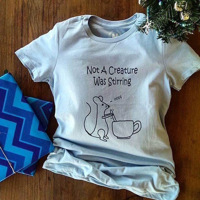 Not A Creature Was Stirring Tee  #twasthenightbeforechristmas nightbefore #tshirt #christmas #pun #pelicanandwolf