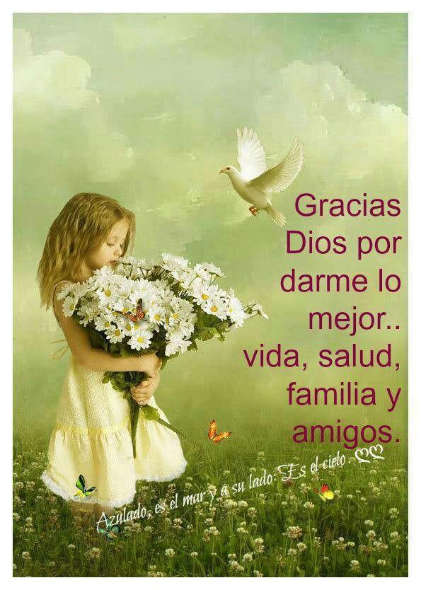 Yo agradezco a Dios todo lo que me da día a día. Seamos agradecidos con el Señor. Gracias por todo lo que me das mi Dios y mi todo..