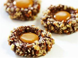 čokoládové kuličky s karamelovým středem