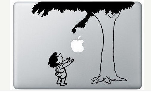 This makes me wish I still had my Mac: Vinyls Decals, Books, Macbook Stickers, The Giving Tree, Laptops, Macbook Decals, Trees Decals, Apples, The Give Trees