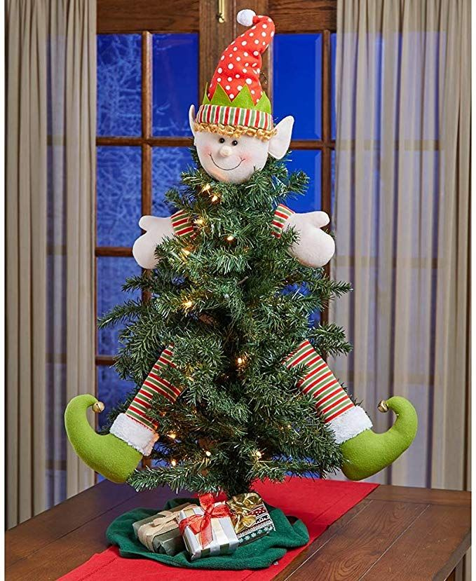Amazon Com The Lakeside Collection 5 Pc Christmas Elf Wreath Tree Decorating Kit Xmas Decorations Classic Christmas Decorations Elf Christmas Decorations
