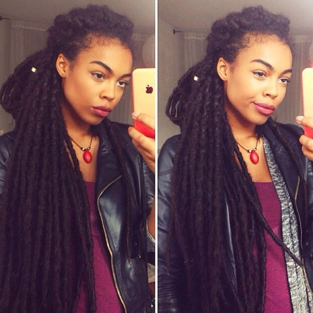 I can not wait until my locs get this long!!! I am so excited for this…
