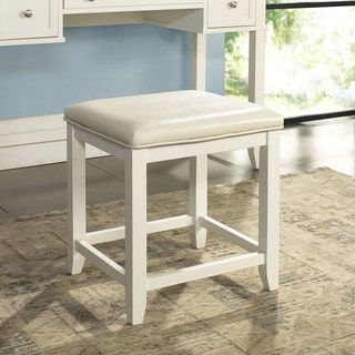 Shop for Crosley Finish Vista White Finish Wood Vanity Stool. Get free shipping at Overstock.com - Your Online Furniture Outlet Store! Get 5% in rewards with Club O! - 22397361