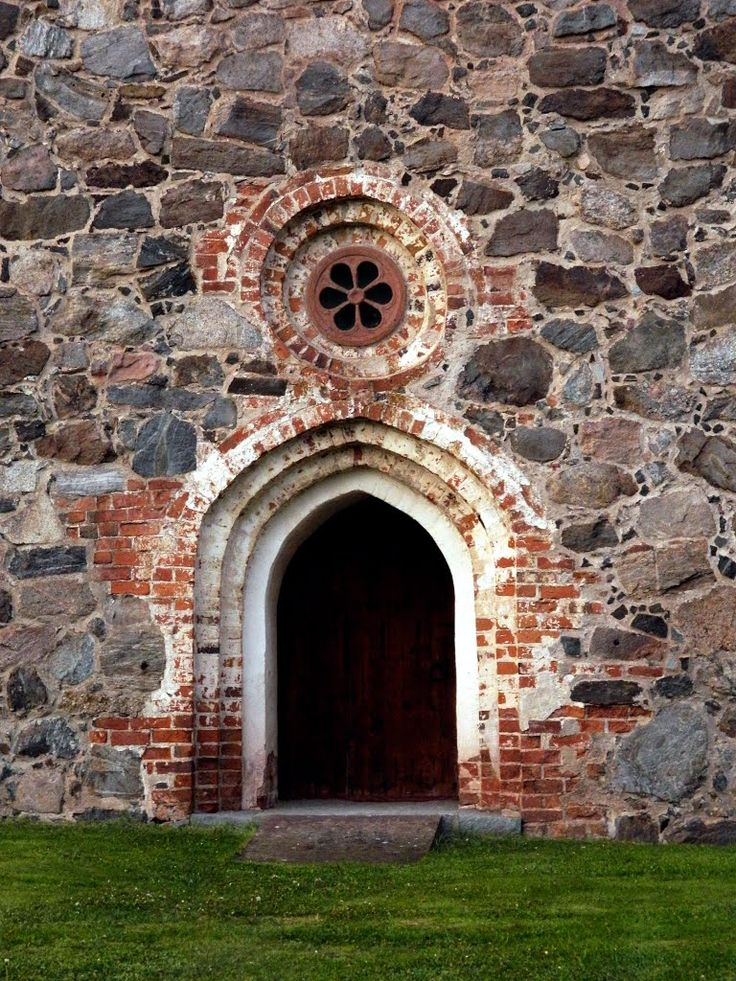 Entrance Old church Isokyrö. Finland.