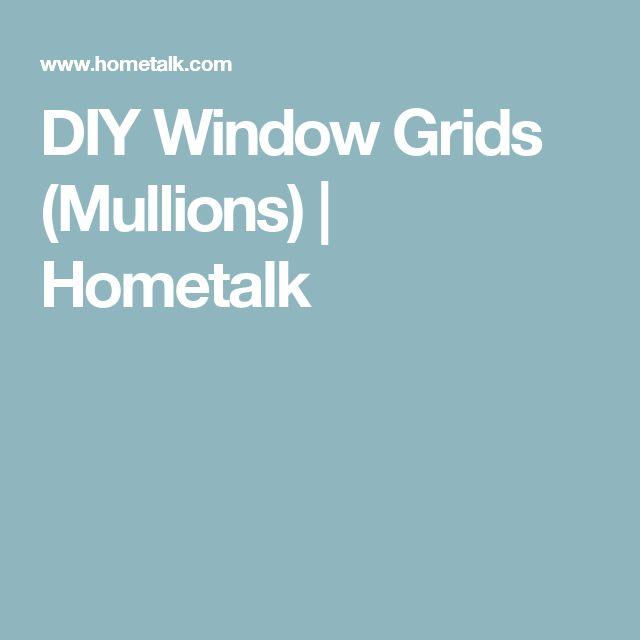 how to make window mullions