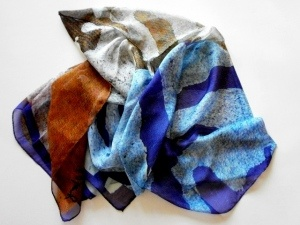 """SILK SCARVES DESIGN FROM TORN POSTERS: """"THE NEXT BIG FASHION TREND"""""""