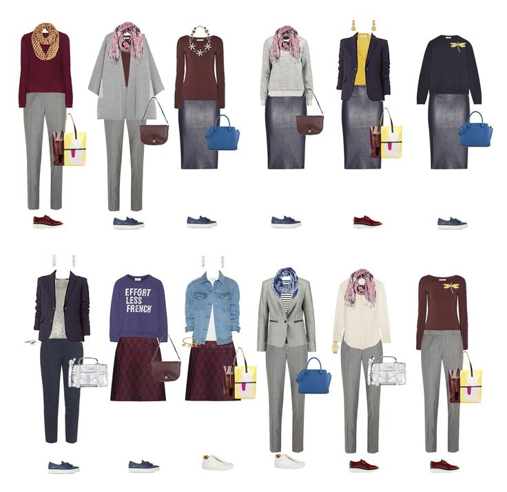 Повседневные комплекты капсульного гардероба