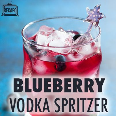 Blueberry Vodka Spritzer, show your vodka price this 4th of July!