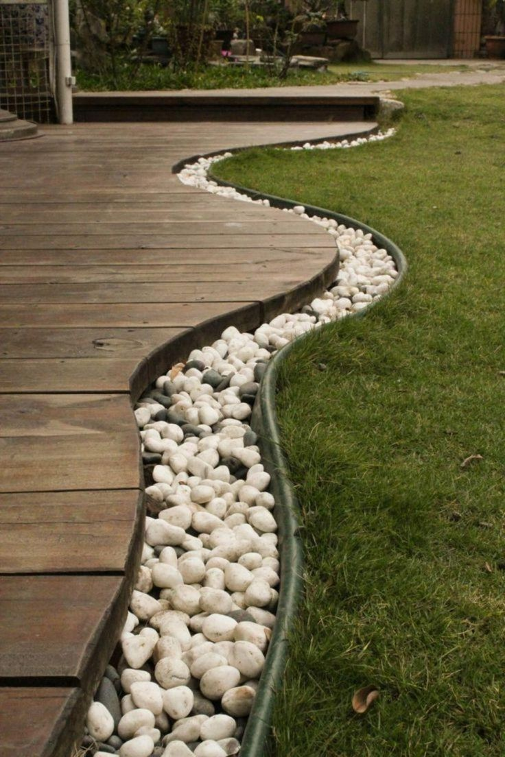 Trend Curve Stones Home Yard Garden Design With Bars Timber Floor And Stones Also With Green Grass Ideas Design Garden Landscaping Ideas for Front Yard