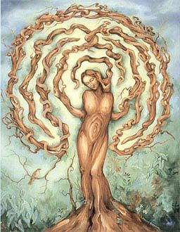 tree woman labyrinth by kieran