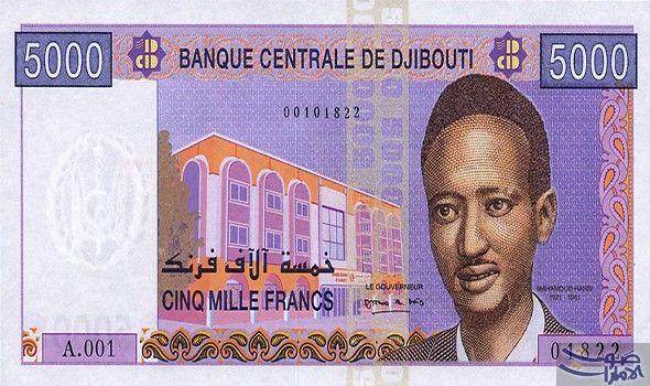 سعر الدولار الأميركي مقابل الفرنك الجيبوتي الجمعة: 1 فرنك جيبوتي = 0.0056 دولار أمريكي 1 دولار أمريكي = 178.4700 فرنك جيبوتي