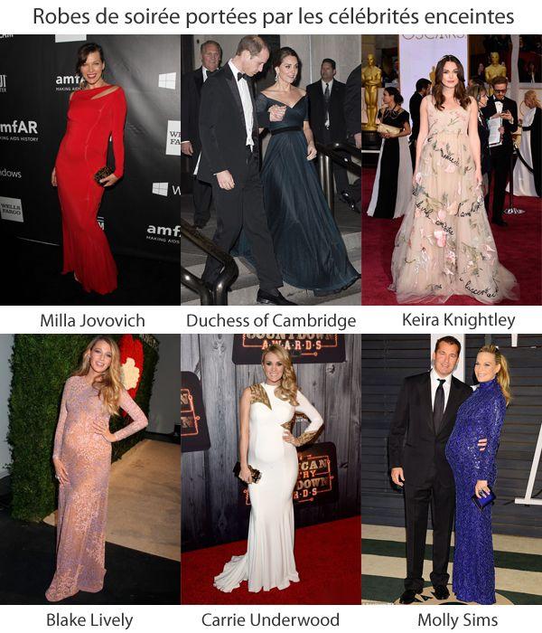 Robes de soirée portées par les célébrités enceintes