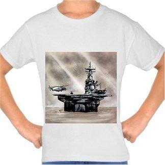 uçak gemisi Kendin Tasarla - Çocuk Tişört
