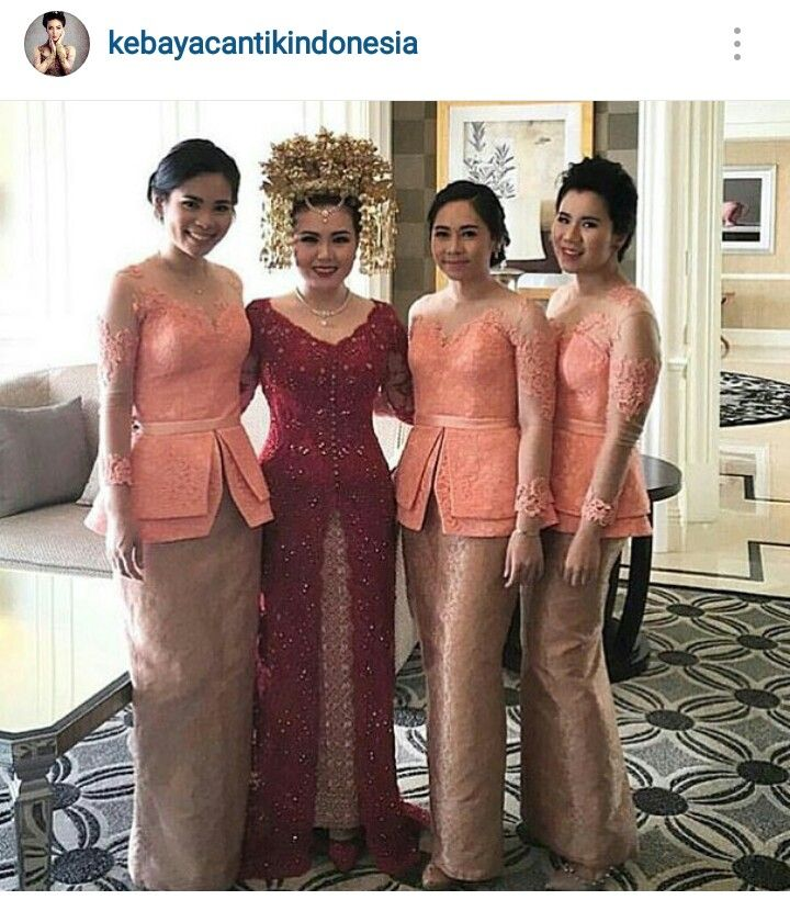 Pretty peach kebaya,quite simple wit lovely details