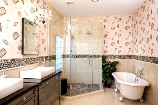 43 Calm And Relaxing Beige Bathroom Design Ideas