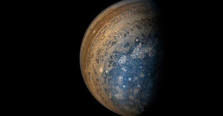 A sonda espacial Juno (abreviação para o termo em inglês JUpiter Near-polar Orbiter e homenagem à deusa romana casada com o deus Júpiter) foi lançada em 2011 com um objetivo principal: coletar imagens do maior planeta de nosso Sistema Solar. E ela acabou de fornecer à Nasa mais uma impressionante leva de fot