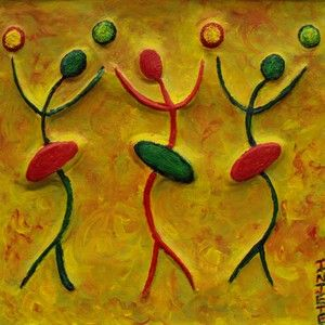 Three Flirts: Abstract African Art by Injete Chesoni. Creative Expressions: Poetry, Art, Stories and Metal Art: African Women: Proverbs, Poetry and Art