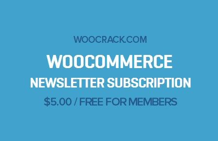 WooCommerce Newsletter Subscription 2.3.4, Woocrack.com – WooCommerce Newsletter Subscription is a WooCommerce Extensionsdeveloped by Woothemes. WooCommerce Newsletter Subscription allows you to ea