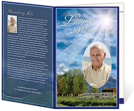 8 best Memorial images on Pinterest Patterns, Cv template and Sanat - funeral program templates free downloads