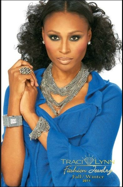 Cynthia Bailey from Real Housewives of Atlanta wears Traci Lynn Fashion jewelry! Fabulous!!     www.tracilynnjewelry.net/nkw