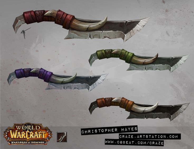 ArtStation - World of Warcraft: Warlords of Draenor weapons, Christopher Hayes