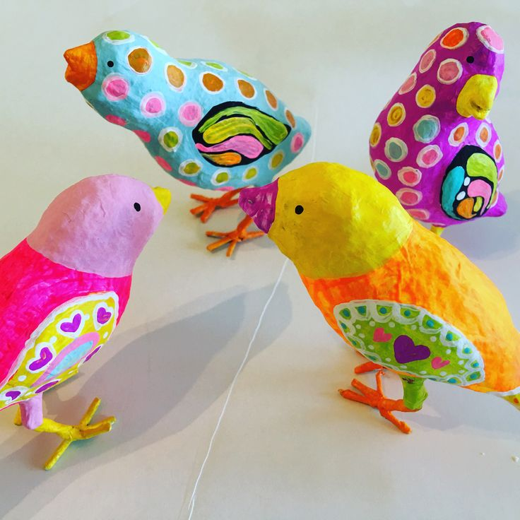 These Paper Mache Birds are a wonderful project to  paint or mod-podge.