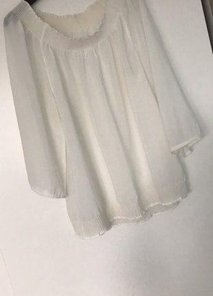 Kup mój przedmiot na #vintedpl http://www.vinted.pl/damska-odziez/bluzki-z-3-slash-4-rekawami/16986997-sliczna-zwiewna-biala-bluzeczka-roz-42