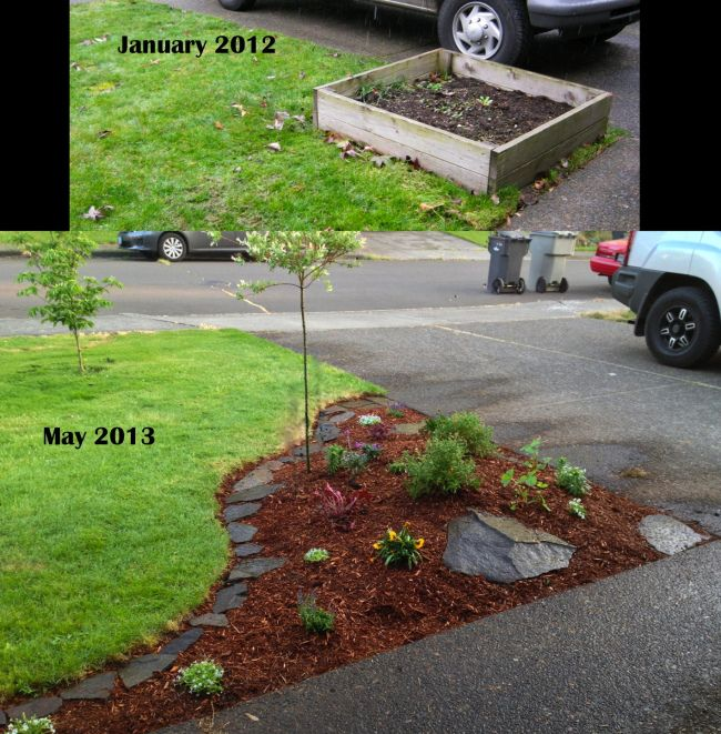 Corner Floral Garden Area: New Flower Bed - Simple, Clean.