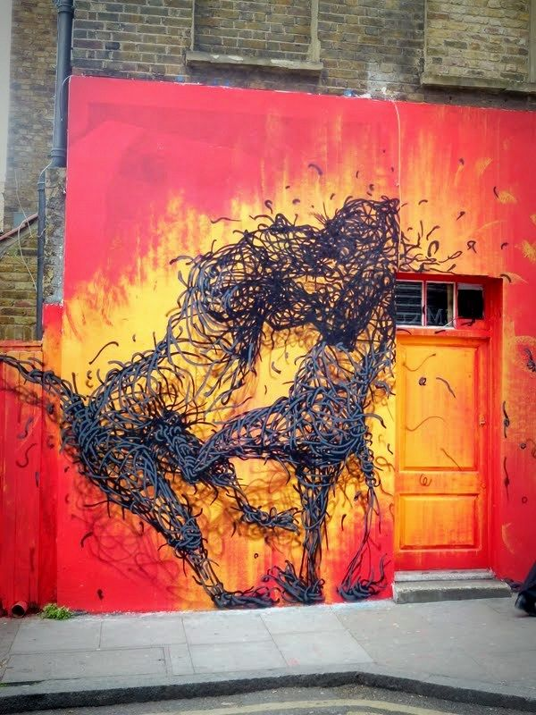 Nouveau mur de DALeast dans Brick Lane
