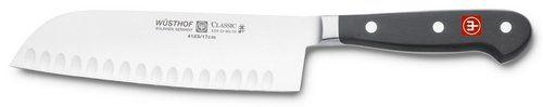 Wusthof 4183-7 Wusthof Classic 7-Inch Santoku Knife, Hollow Edge