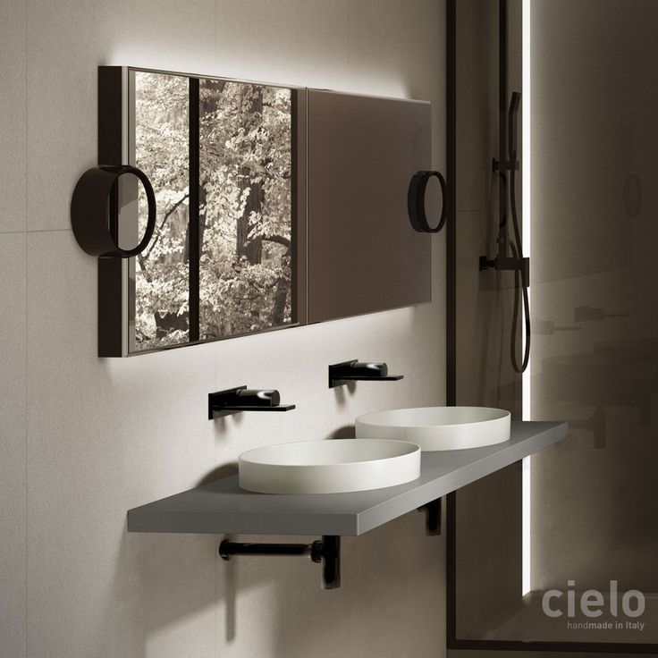 Mirror POSPL   Bath Mirror: Installation Wall Hung X Sanitary Ware  Collection Arcadia Design APG Studio For Ceramica Cielo