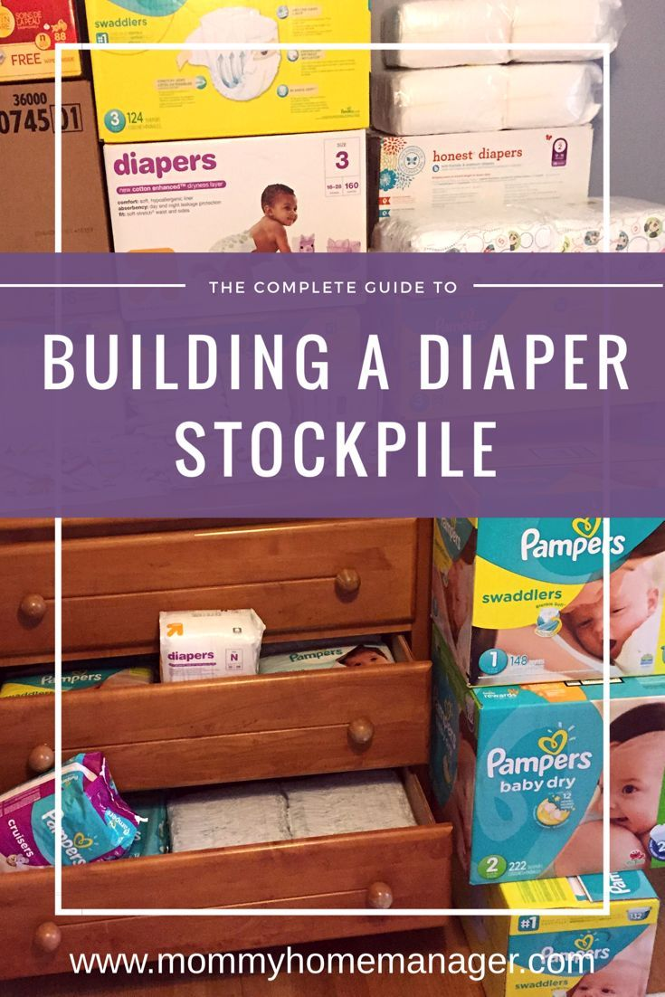 Building a stock of diapers before your baby is born will save you time and money in the long run. Check out this post to learn how and why to build up your diaper stockpile.