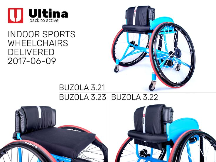 Sports wheelchairs Ultina BUZOLA, made according to the very accurate measurement and with the emphasis on the individual needs of the athletes. Very solid aluminium 7020 frame, Spinergy wheels with X-laced design and high-quality and safe textiles in custom-design.