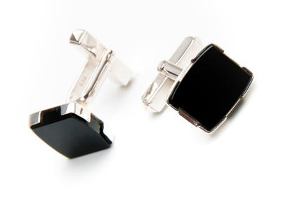 Ioana Enache - Romanian Designer  Onyx Cufflinks - Unique Product  Made of: 925 sterling silver and onyx.