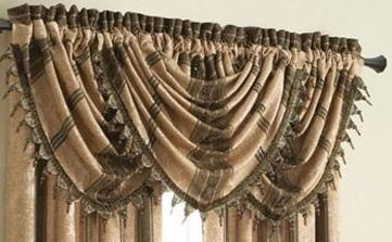 """Dress your windows in our Marquis panels with a """"Pie-crust"""" valance technique. #AnnasLinens #WindowPanels"""