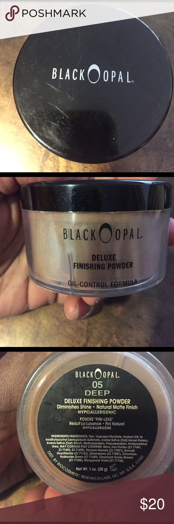Black opal finishing powder Black opal finishing powder, color deep, used only one time, have all product black opal Makeup Face Powder