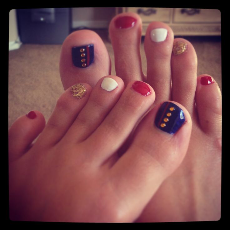 Marine toes #usmc #pedicure marine girlfriend  | See more at http://www.nailsss.com/french-nails/3/