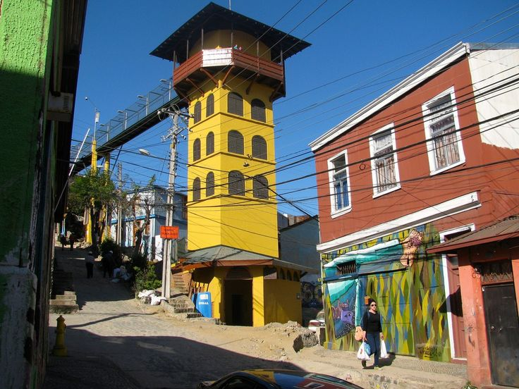 The only true elevator of Valparaiso is the one in Cerro Polanco (Polanco Hill). Unlike other funiculars in the city, which run in the open along the hill's slope, this one ascends and descends vertically within Polanco Hill. It was completed in 1915; the access is from Simpson Street through a 150-metre-long tunnel. From there, the lift travels 60 metres to the top of a tower overlooking the bay of the port of Valparaiso. It was declared a National Monument of Chile in 1976.