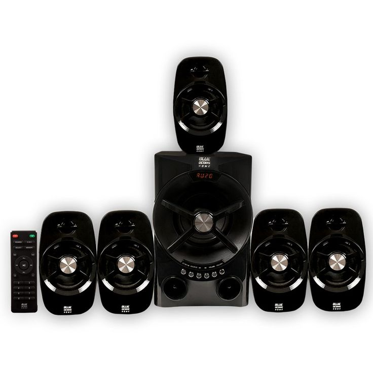 Blue Octave Home 5.1 Speaker System 5.1-Channel Home Theater Speaker System, Black (B54)