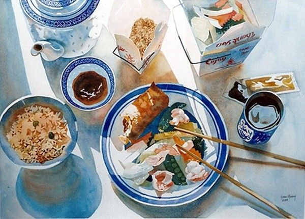 Food is absolutely realistic illustration