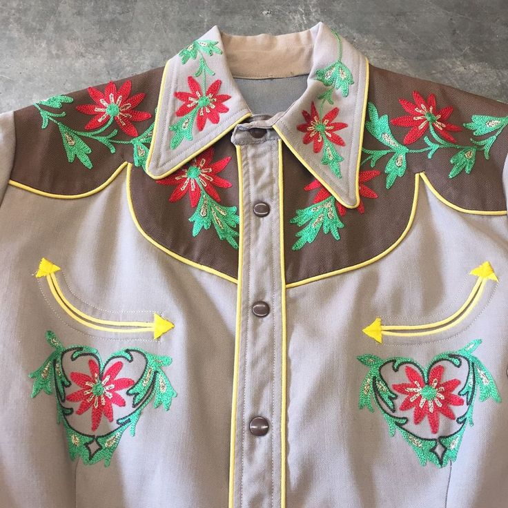"""Vintage 1950's """"H Bar C Ranchwear"""" Cowboy Western Rockabilly Shirt #Rockabilly #Rockabilly"""