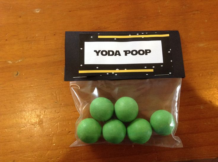 Yoda Poop - Mint Chocolate Balls made by Darrell Lea Chocolates.