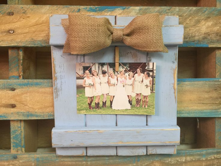 Rustic Picture Frame, Barn Wood Picture Frame, Photo Frame, Shabby Chic Picture Frame with Burlap Bow 4 x 6,  5 x 7 by BowtiqueBurlap on Etsy